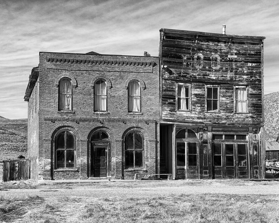 Dechambeau Hotel And Ioof Hall Bodie Ca Photograph  - Dechambeau Hotel And Ioof Hall Bodie Ca Fine Art Print