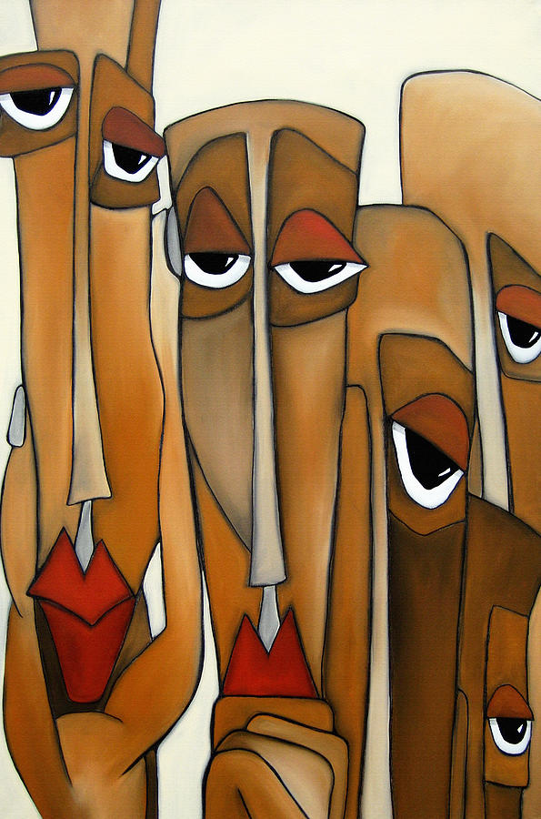 Decision Makers - Abstract Pop Art By Fidostudio Painting