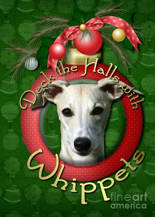 Deck The Halls With Whippets Digital Art