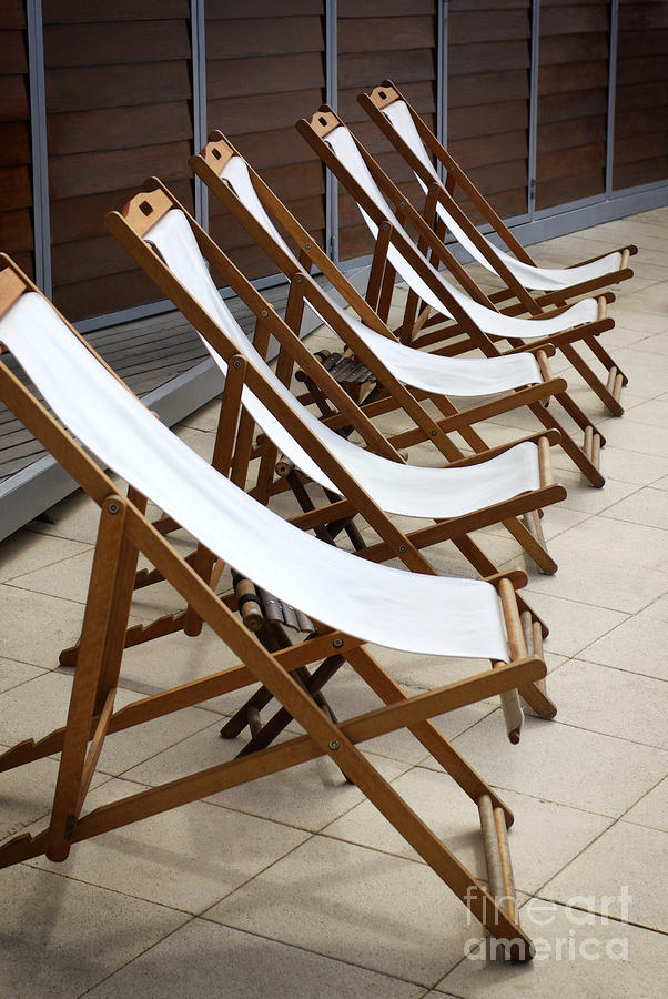 Deckchairs Photograph  - Deckchairs Fine Art Print