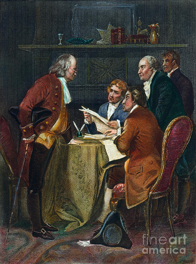 Declaration Committee Photograph  - Declaration Committee Fine Art Print