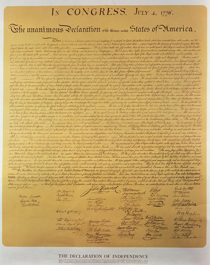 This is a photo of Sly Printable Copy of the Declaration of Independence