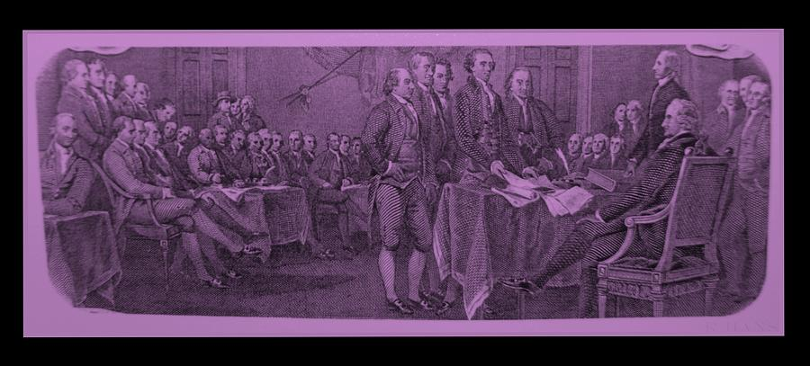 Declaration Of Independence In Pink Photograph