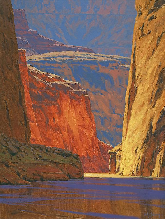 Deep In The Canyon Painting  - Deep In The Canyon Fine Art Print
