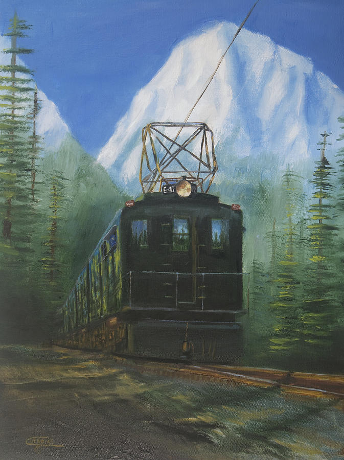 Deep In The Cascades Painting