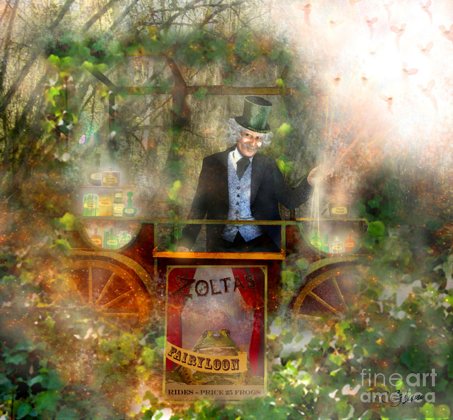 Deep In The Woods - Is The Fairyloon Man Mixed Media  - Deep In The Woods - Is The Fairyloon Man Fine Art Print