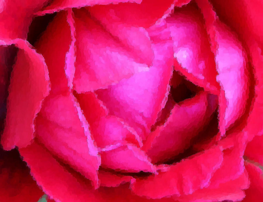 Deep Inside The Rose Photograph