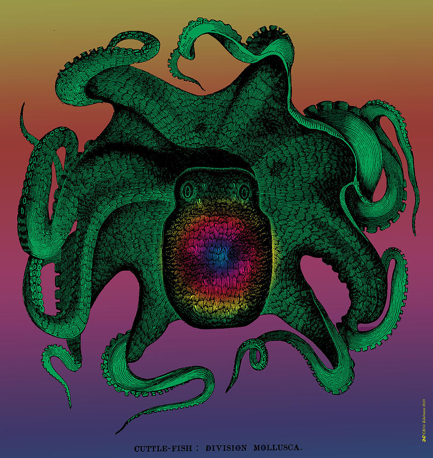 Deep Monster Number Two Digital Art  - Deep Monster Number Two Fine Art Print
