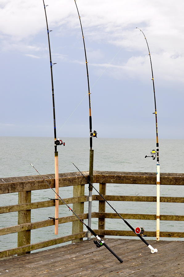 Deep sea fishing off of the surf city pier photograph by for Surf city fishing pier