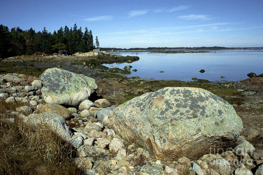Deer Isle Granite Shoreline Photograph