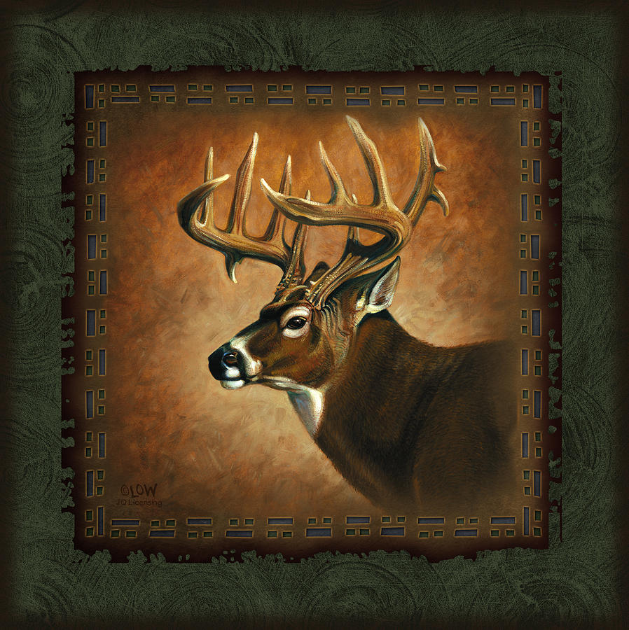 Deer Lodge Painting  - Deer Lodge Fine Art Print