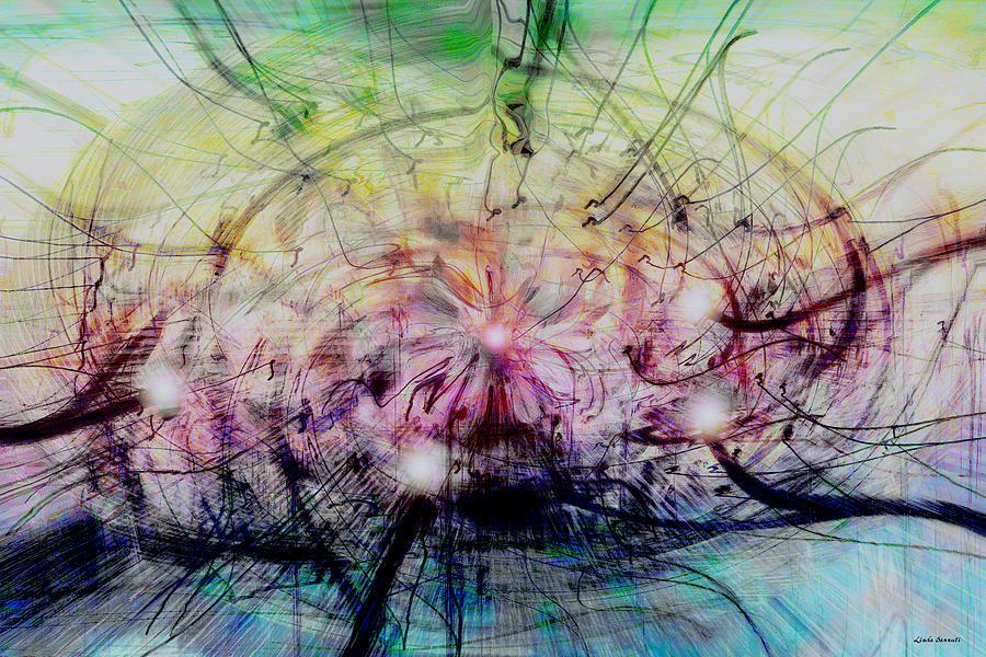 Abstract Art Digital Art - Deform To Form A Star by Linda Sannuti
