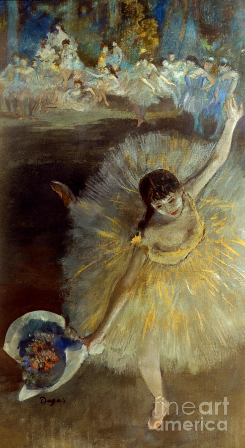 Degas: Arabesque, 1876-77 Photograph  - Degas: Arabesque, 1876-77 Fine Art Print