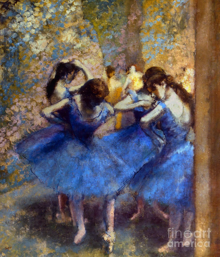 Degas: Blue Dancers, C1890 Photograph  - Degas: Blue Dancers, C1890 Fine Art Print