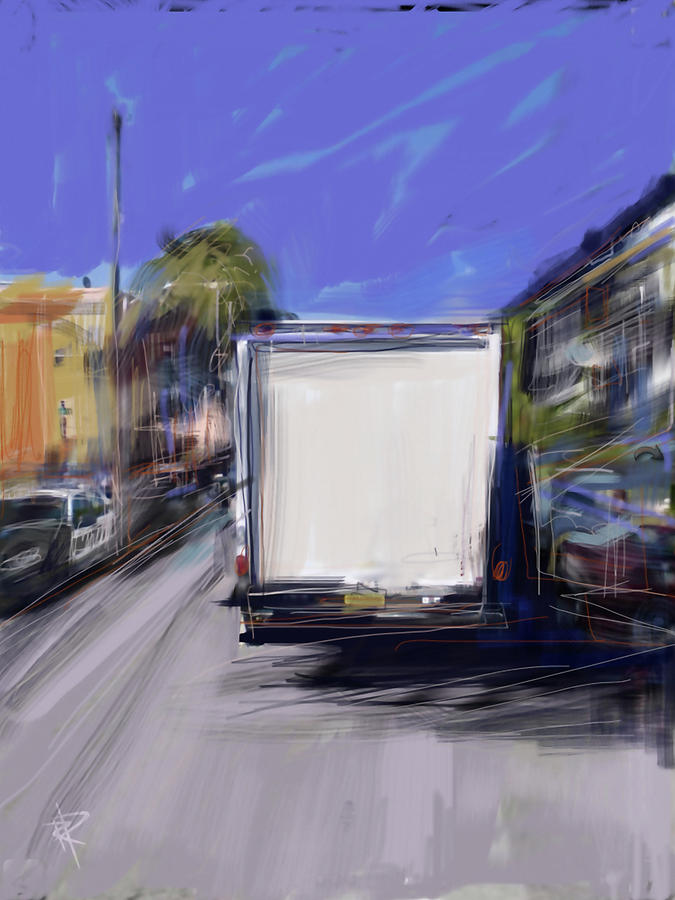 Delivery Digital Art  - Delivery Fine Art Print