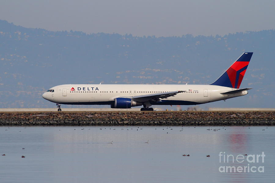 Delta Airlines Jet Airplane At San Francisco International Airport Sfo . 7d12111 Photograph