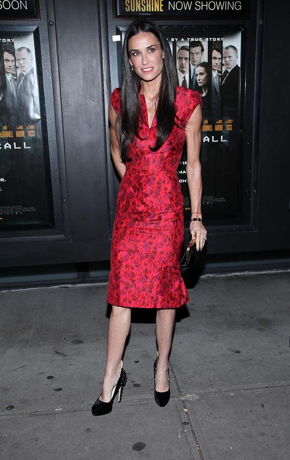 Demi Moore  Wearing A Zac Posen Dress Photograph  - Demi Moore  Wearing A Zac Posen Dress Fine Art Print