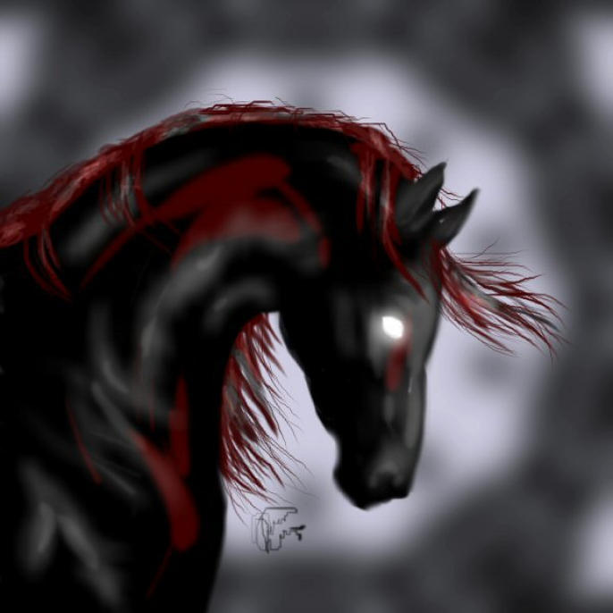 Demon Horse Digital Art  - Demon Horse Fine Art Print