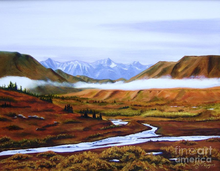 Denali Autumn Painting  - Denali Autumn Fine Art Print