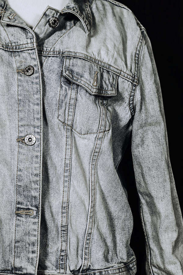 Denim Jacket Photograph  - Denim Jacket Fine Art Print