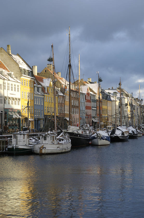 Denmark, Copenhagen, Nyhavn, Boats Photograph