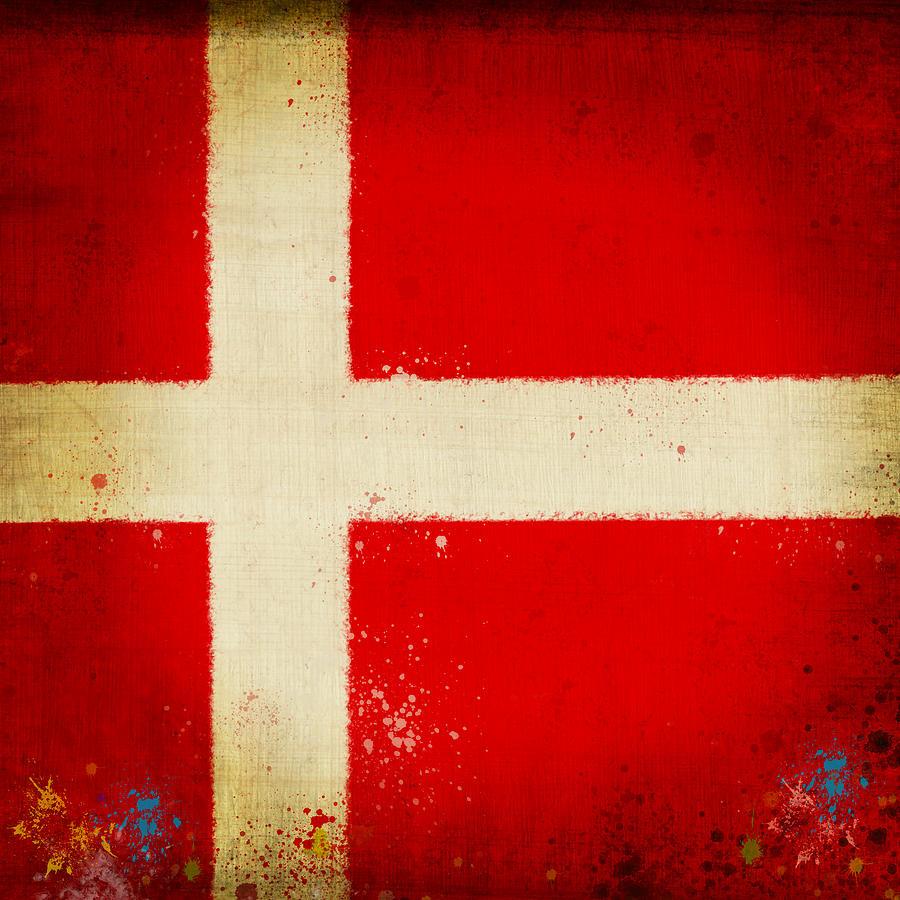 Denmark Flag Painting