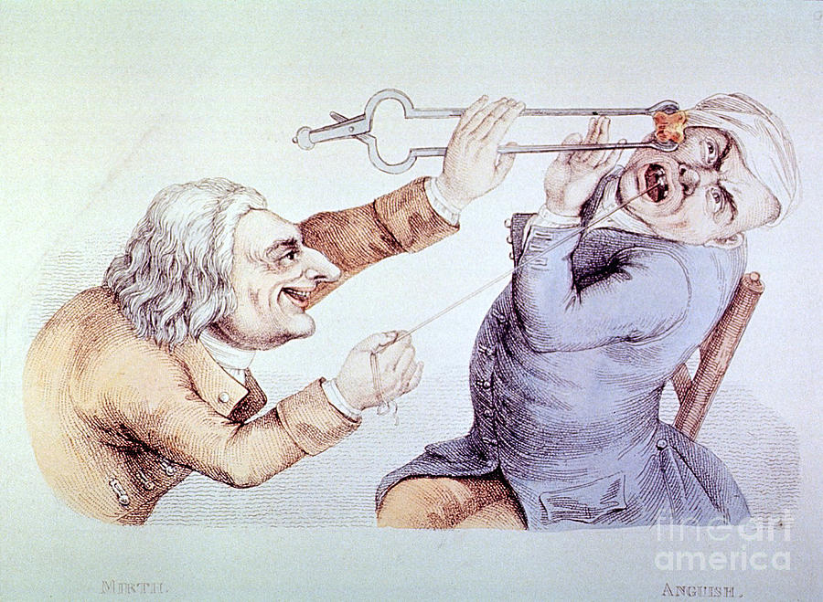 History Photograph - Dentistry Tooth Extraction 1810 by Science Source