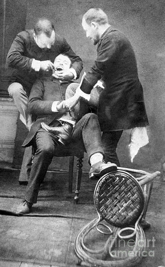 History Photograph - Dentistry Tooth Extraction 1892 by Science Source