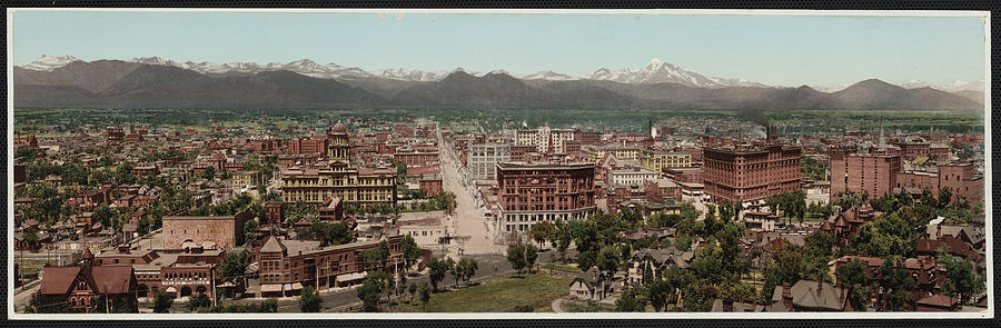 Denver, Colorado, Photochrom By William Photograph  - Denver, Colorado, Photochrom By William Fine Art Print