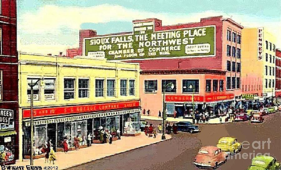 department stores in sioux falls s d painting by dwight goss