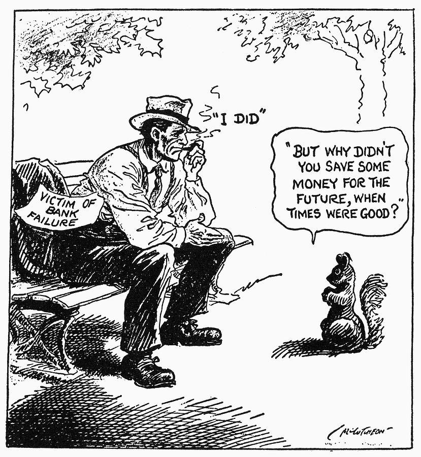 Depression Cartoon 1932 Drawing