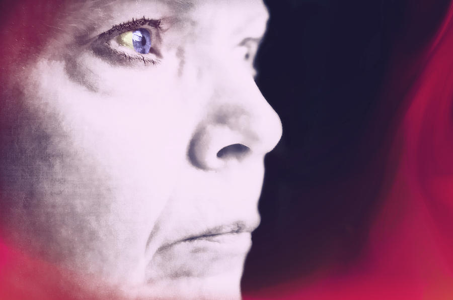 Face Photograph - Depression by Susan Leggett