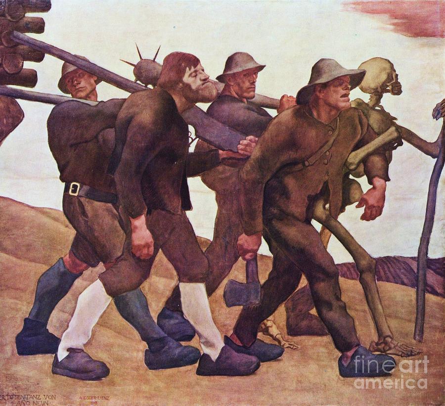 Der Totentanz Von Anno Neun Painting
