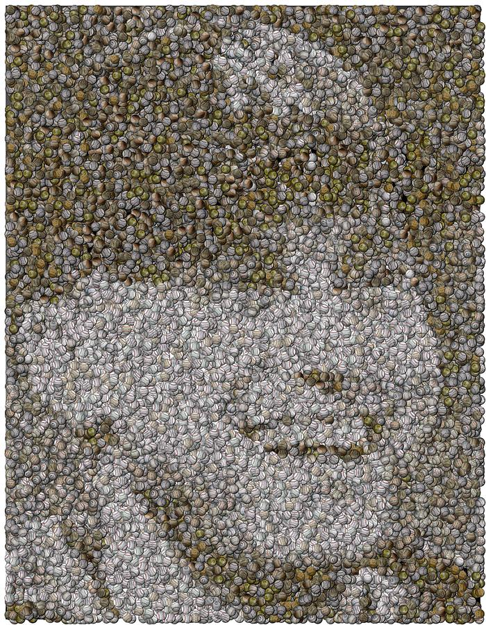 Derek Jeter Baseballs Mosaic Mixed Media