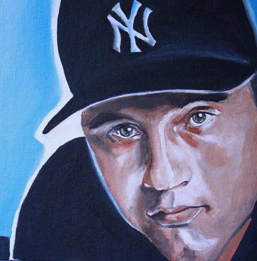 Derek Jeter Portrait Painting
