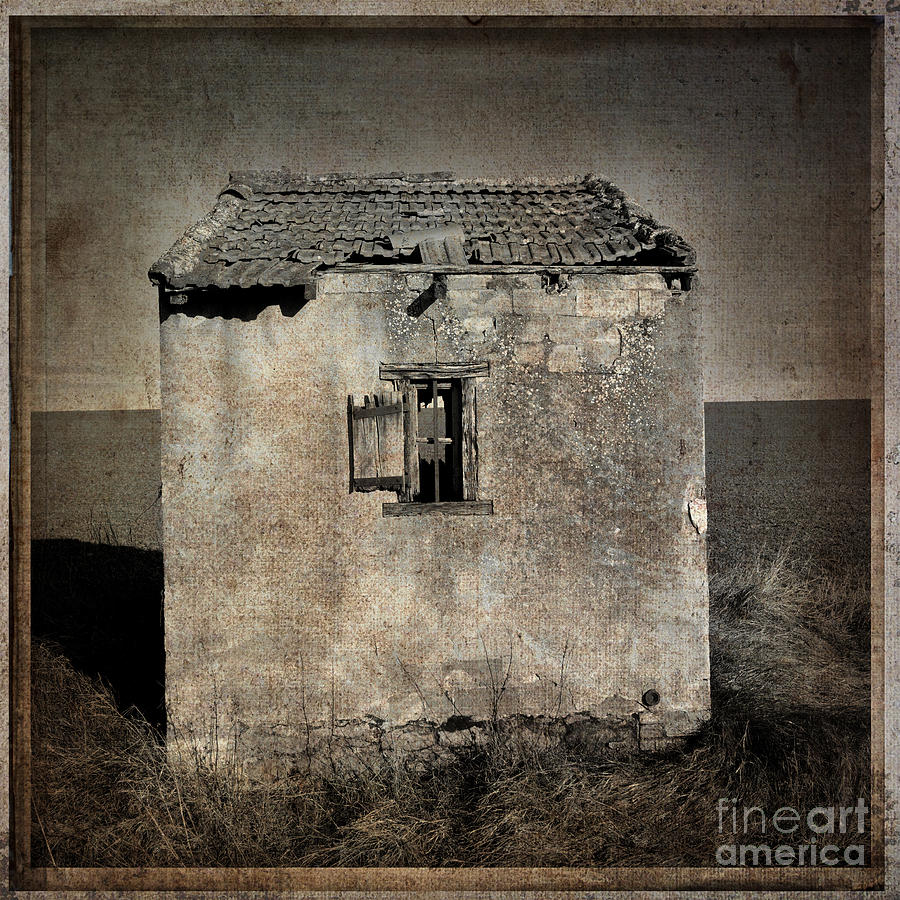 Derelict Hut  Textured Photograph  - Derelict Hut  Textured Fine Art Print