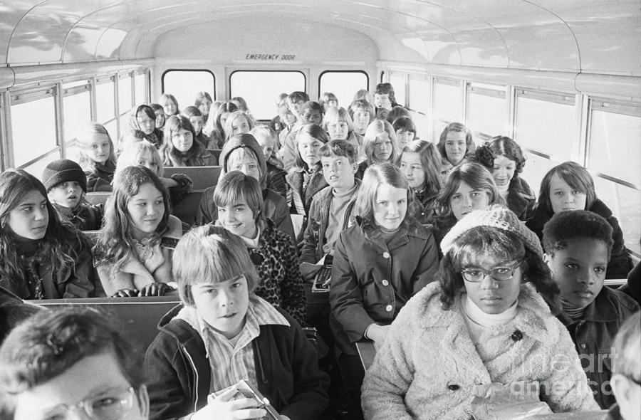 Desegregation: Busing, 1973 Photograph  - Desegregation: Busing, 1973 Fine Art Print