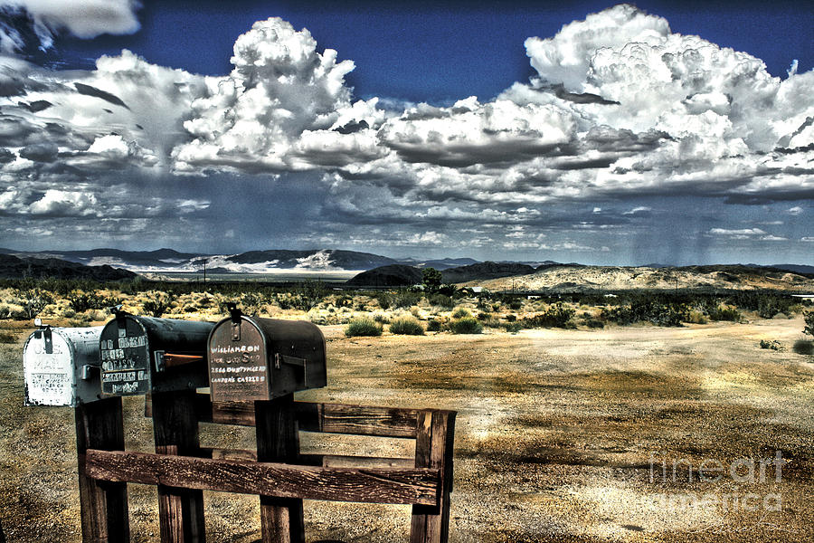 Old  Photography Photograph - Desert Mailboxes by Danuta Bennett