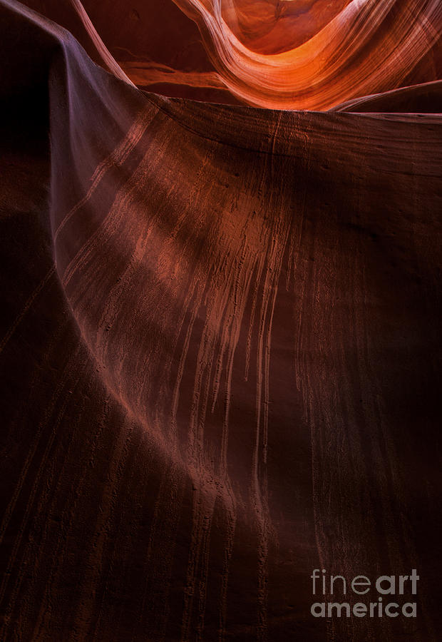 Antelope Canyon Photograph - Desert Rain by Mike  Dawson