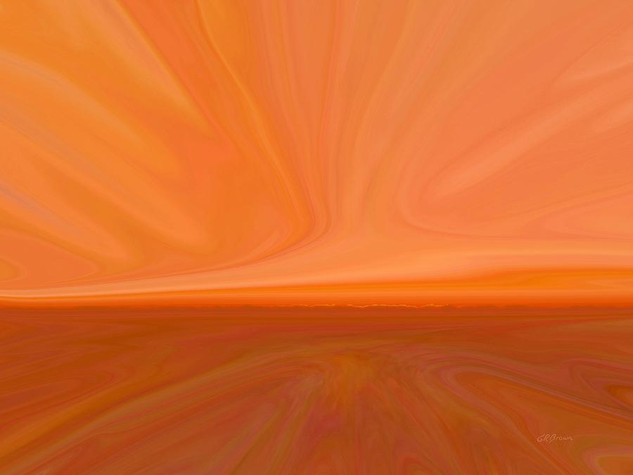 Desert Sunset Digital Art  - Desert Sunset Fine Art Print