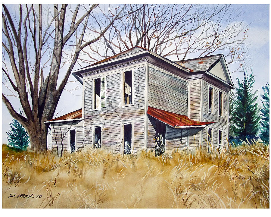 Deserted House  Painting  - Deserted House  Fine Art Print