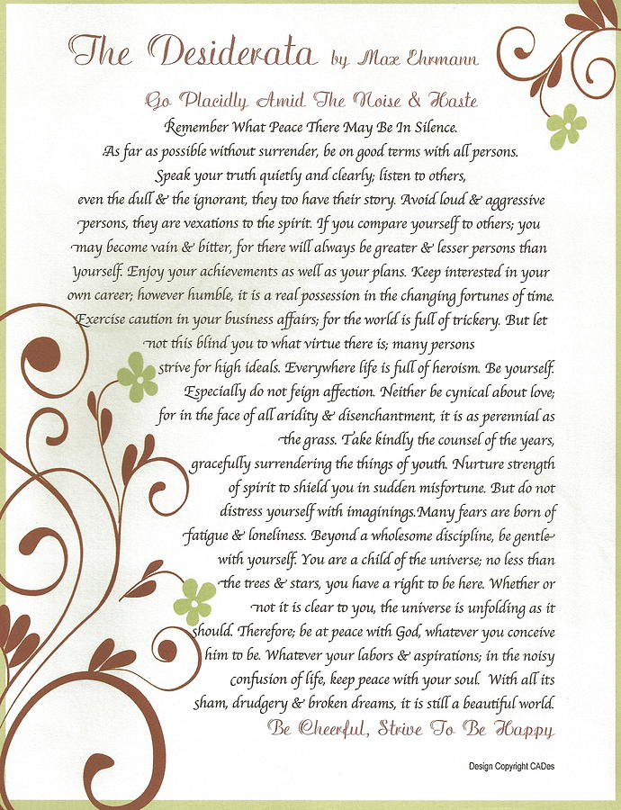 Desiderata Daisy Vines by Claudette Armstrong: fineartamerica.com/featured/desiderata-daisy-vines-claudette...