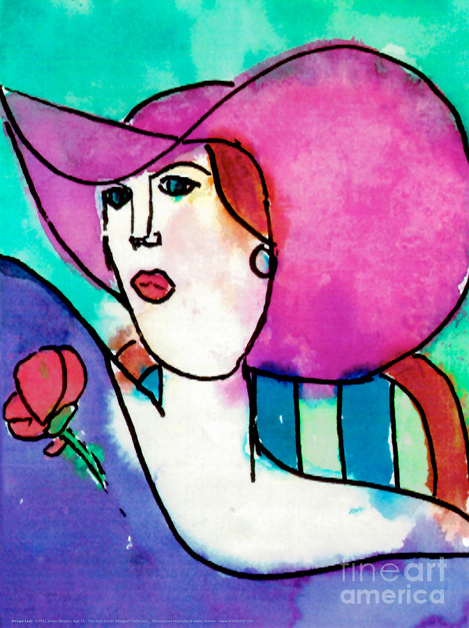 Design Lady Painting  - Design Lady Fine Art Print
