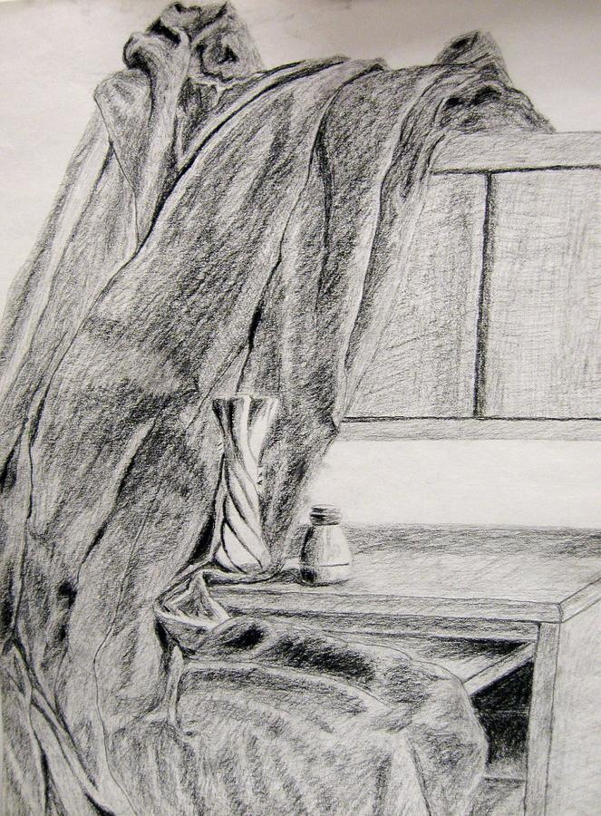 Desk And Curtain Drawing