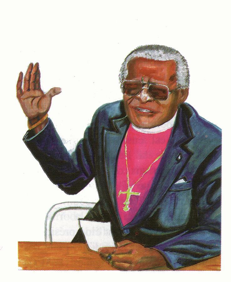 Desmond Tutu Painting