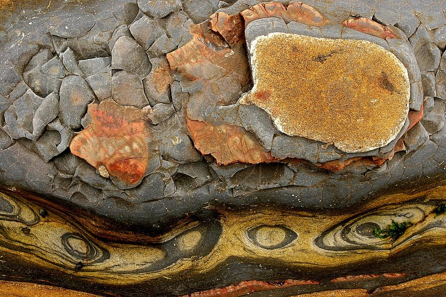 Detail Of Eroded Rocks Swirled Photograph