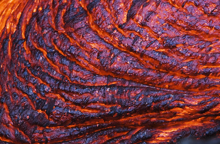 Detail of molten lava by ron dahlquist printscapes