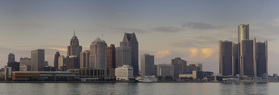 Detroit At Dusk Photograph  - Detroit At Dusk Fine Art Print
