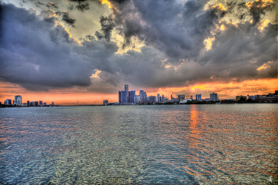 Detroit Sunset  Photograph
