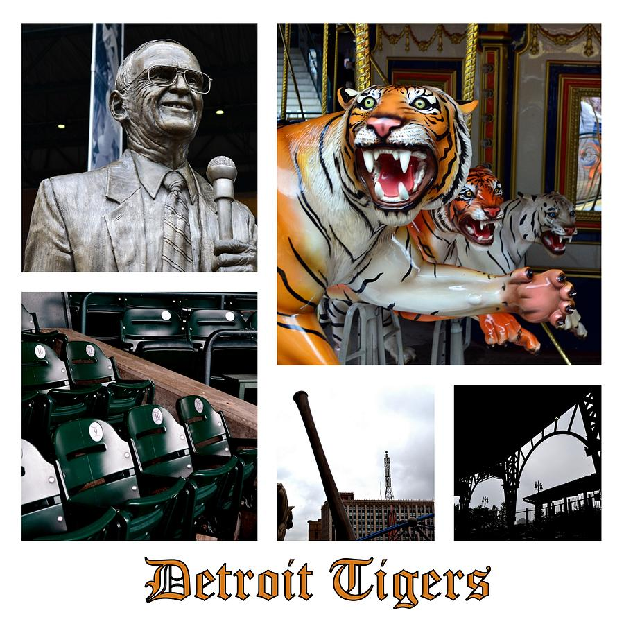 Detroit Tigers Collage Photograph